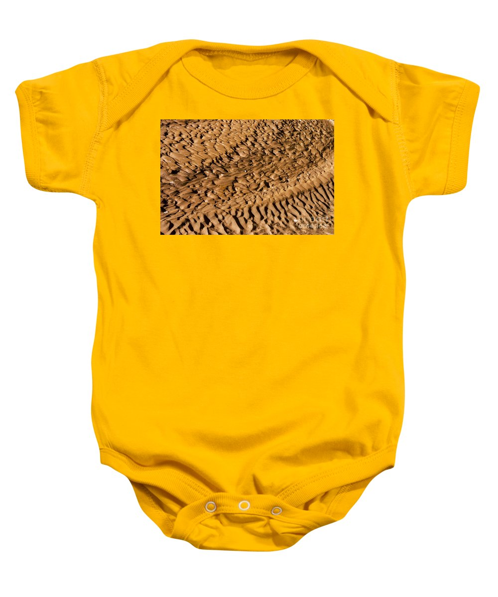 Canyon De Chelly Arizona White House Trail Park Parks Trails Mud Design Designs Baby Onesie featuring the photograph Mud Designs by Bob Phillips
