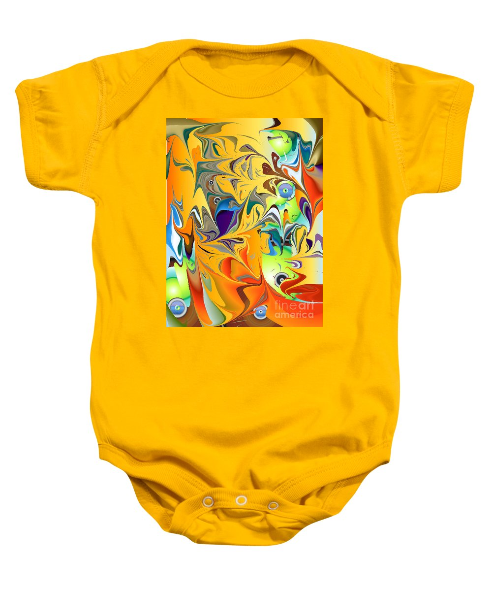 Baby Onesie featuring the digital art No. 141 by John Grieder
