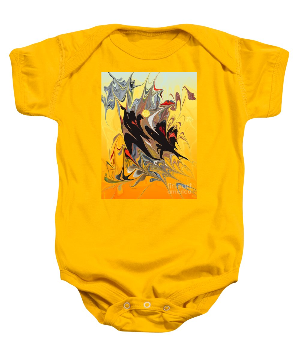 Baby Onesie featuring the digital art No. 147 by John Grieder