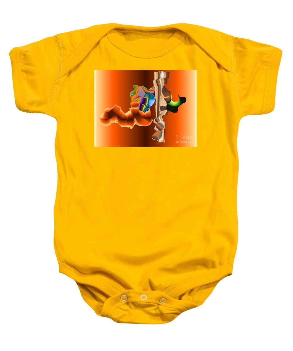 Baby Onesie featuring the digital art No. 470 by John Grieder