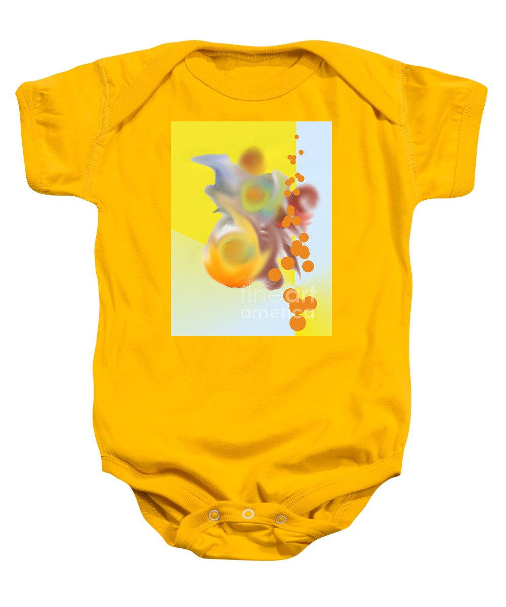 Baby Onesie featuring the digital art No. 776 by John Grieder