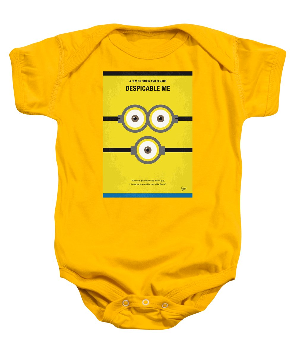 Despicable Baby Onesie featuring the digital art No213 My Despicable Me Minimal Movie Poster by Chungkong Art