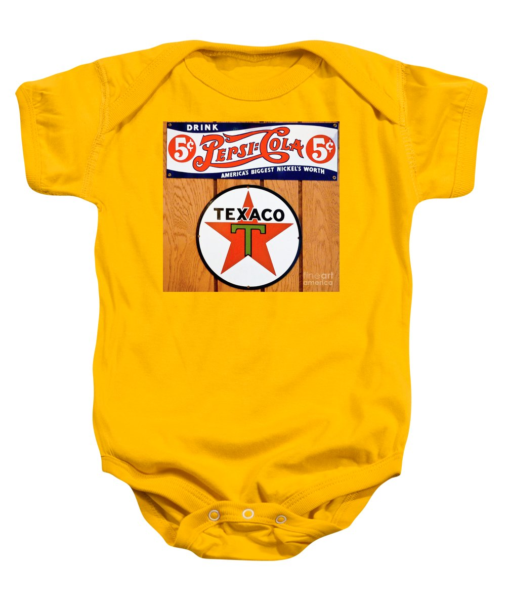 Pepsi Baby Onesie featuring the photograph Only Five Cents by John Waclo