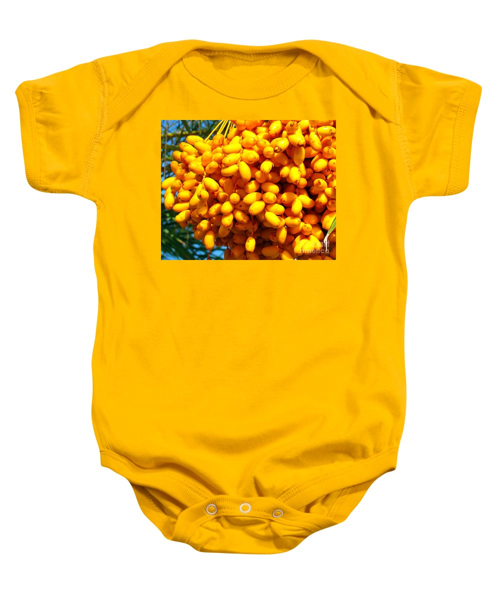 Palm Tree Baby Onesie featuring the photograph Palm Tree Fruit 2 by Nancy L Marshall