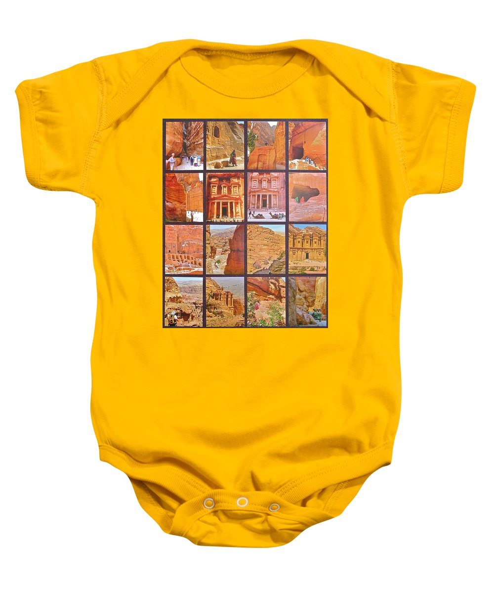 Petra Alive Baby Onesie featuring the photograph Petra Alive In Petra Jordan by Ruth Hager