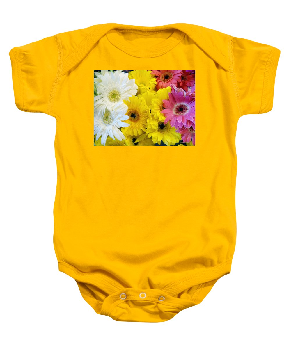 Daisy Baby Onesie featuring the photograph Pick Me by Donna Blackhall