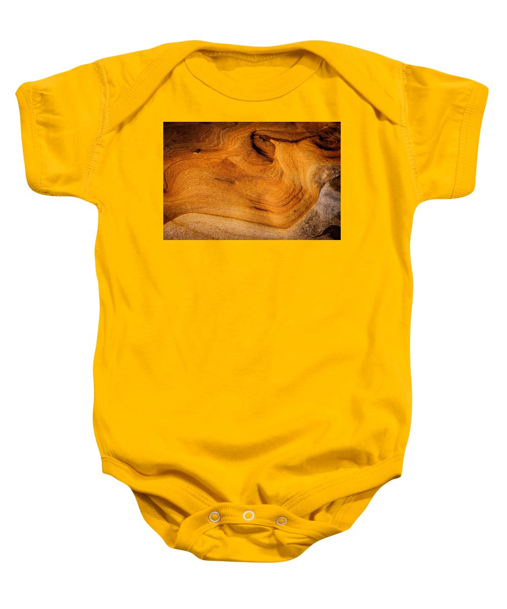 Copyrighted Baby Onesie featuring the photograph Point Lobos Abstract 10 by Mike Penney