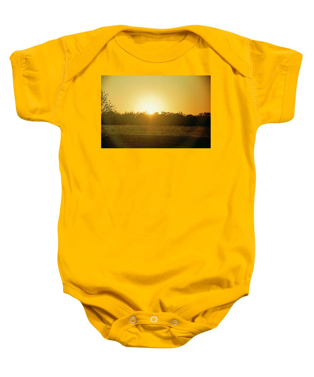Polk City Florida Baby Onesie featuring the photograph Polk City Sunrise by Laurie Perry