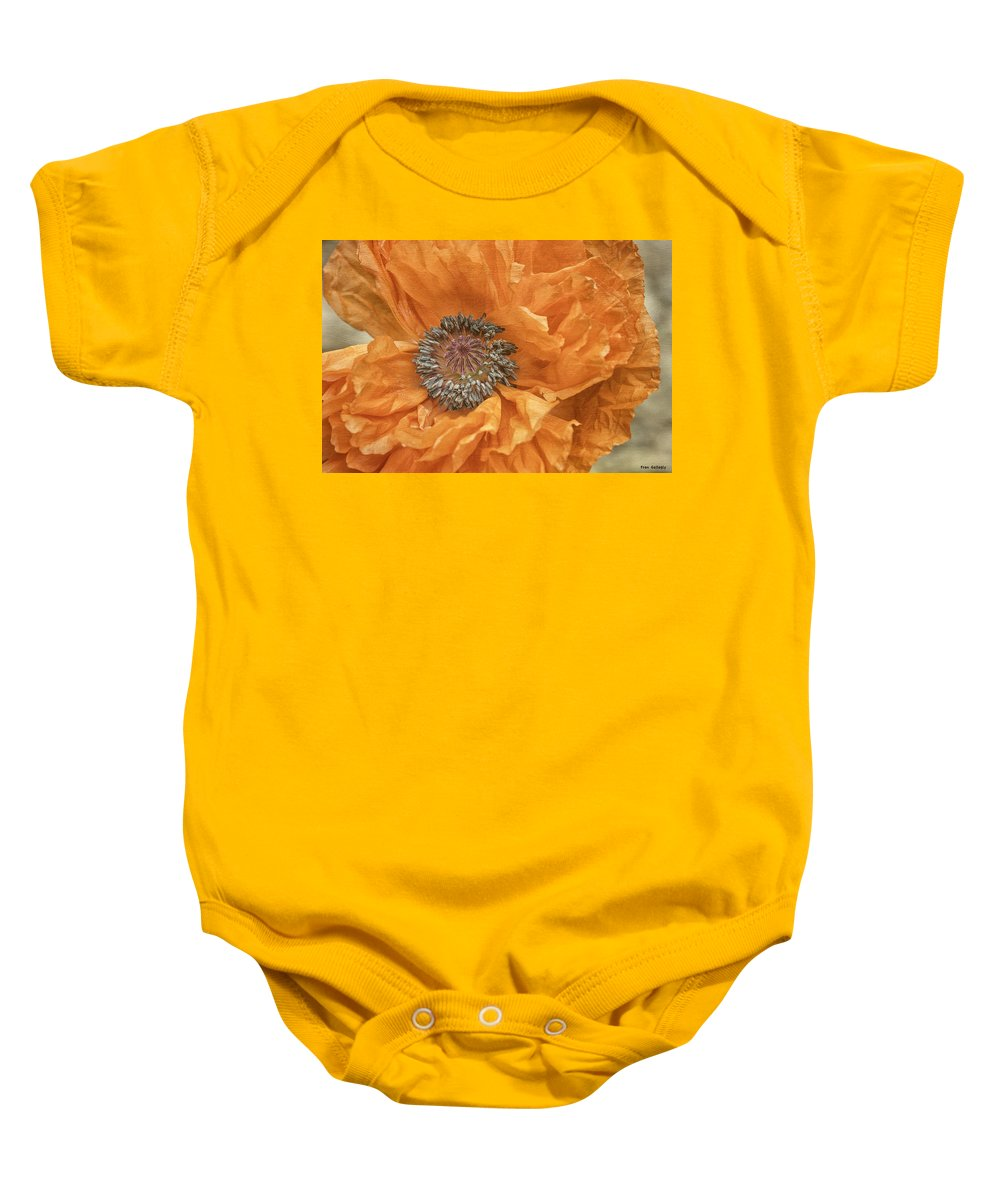 Flower Baby Onesie featuring the photograph Poppy by Fran Gallogly
