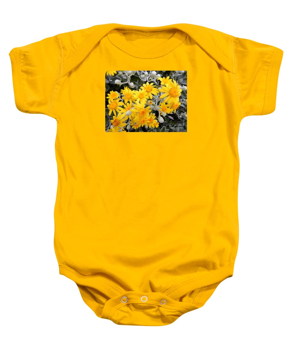 Nature Baby Onesie featuring the photograph Power Of Yellow by Loreta Mickiene