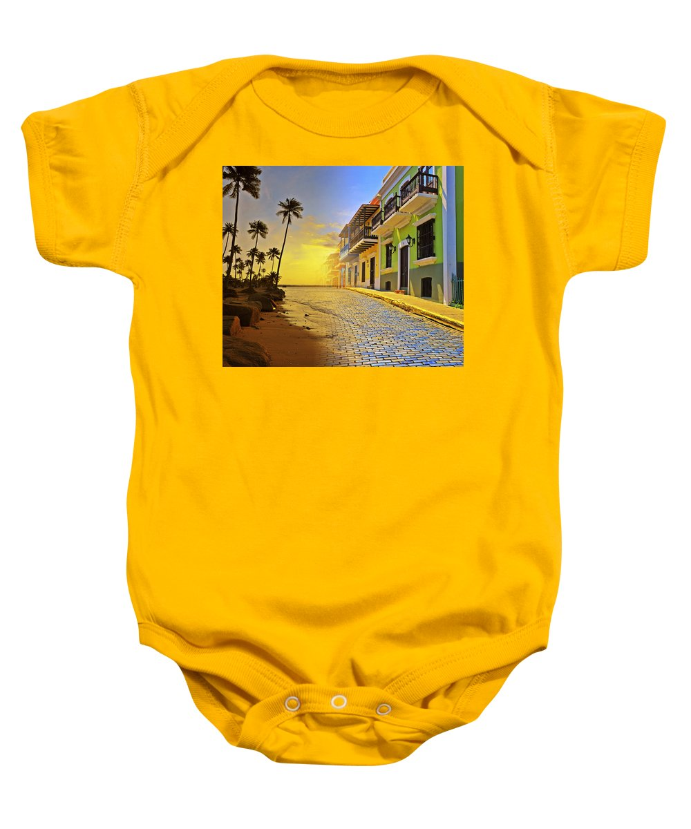 Puerto Rico Baby Onesie featuring the photograph Puerto Rico Collage 2 by Stephen Anderson