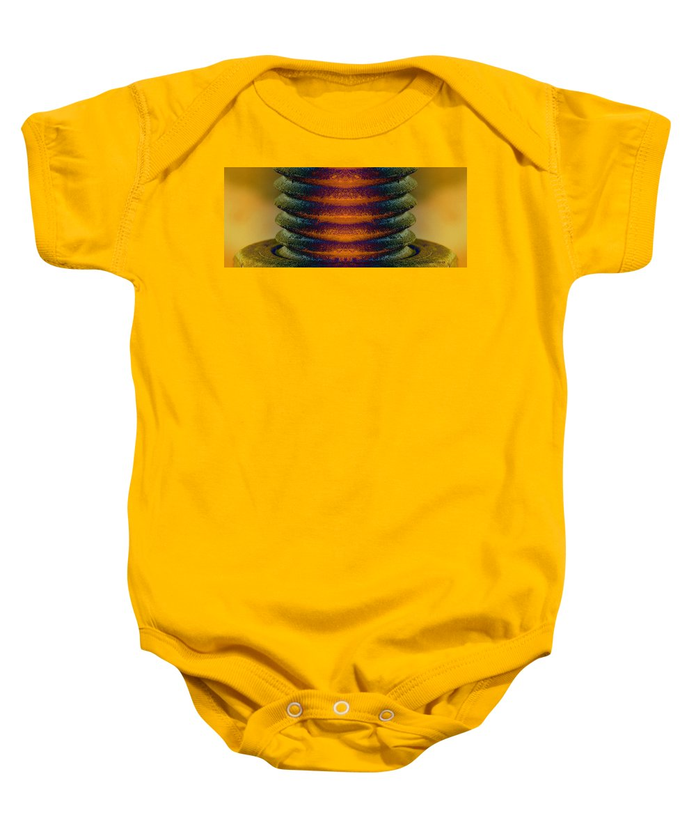 Rust Baby Onesie featuring the photograph Reactor 712 by WB Johnston