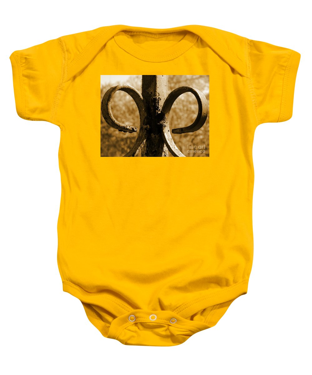 Old Baby Onesie featuring the photograph Rusty Memories by Andrea Anderegg