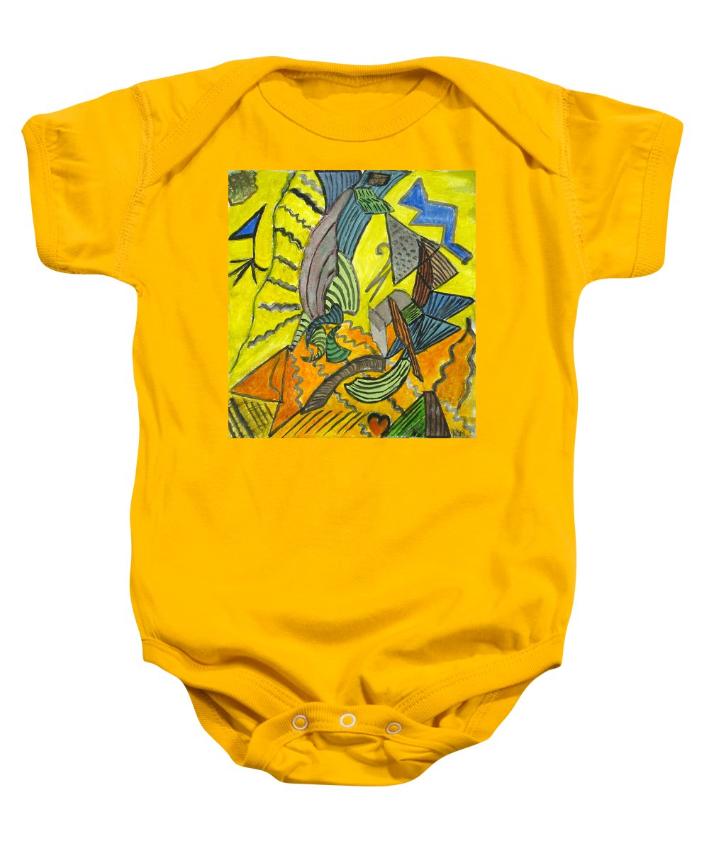 Sailing Baby Onesie featuring the painting Sails by Alina Cristina Frent