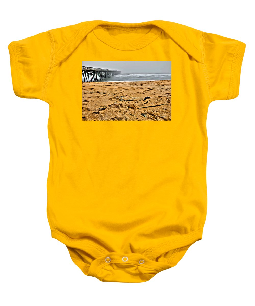 Flagler Beach Baby Onesie featuring the photograph Sand On The Beach by Alice Gipson