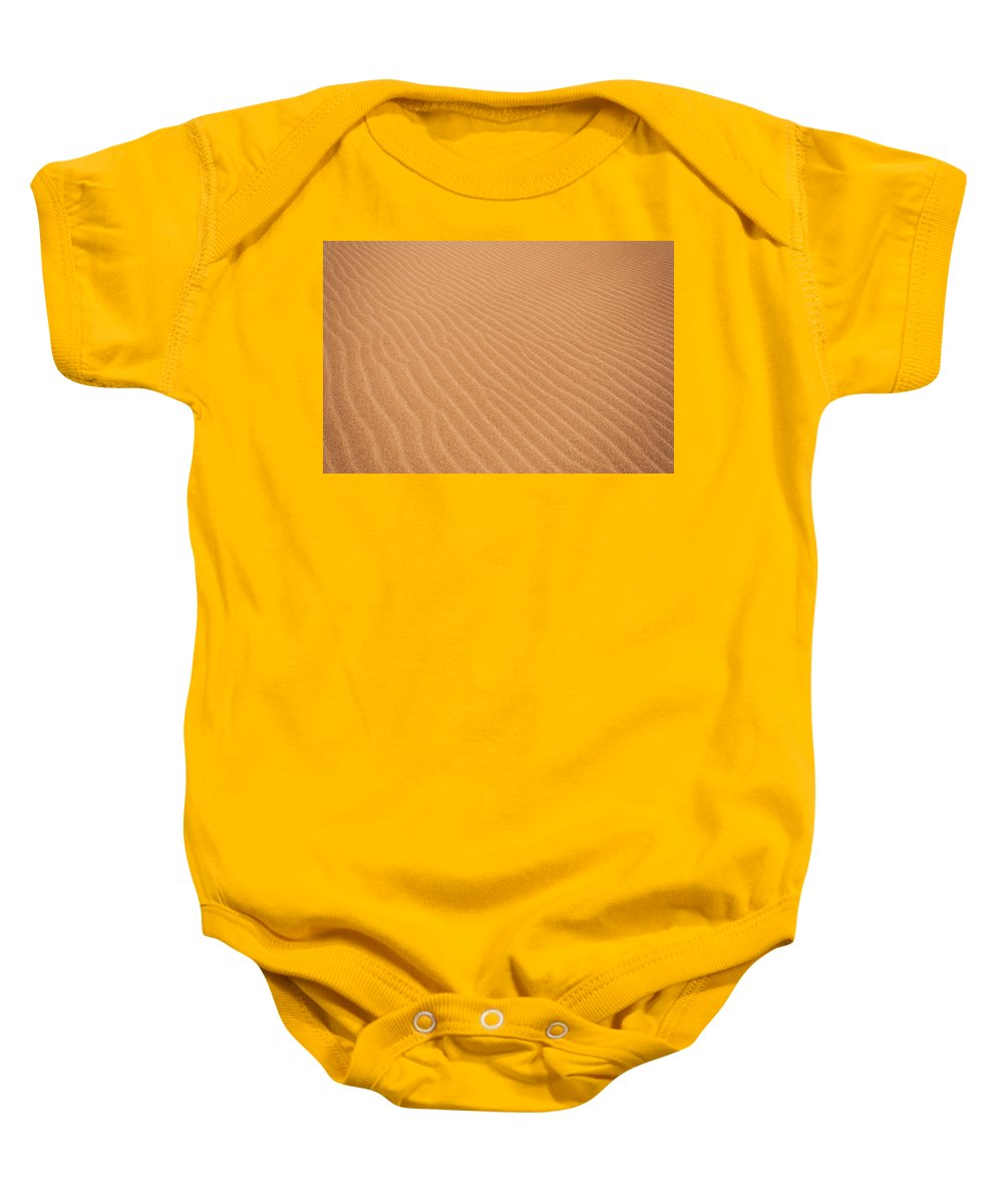 Nature Baby Onesie featuring the photograph Sand Ripples by Jess Kraft