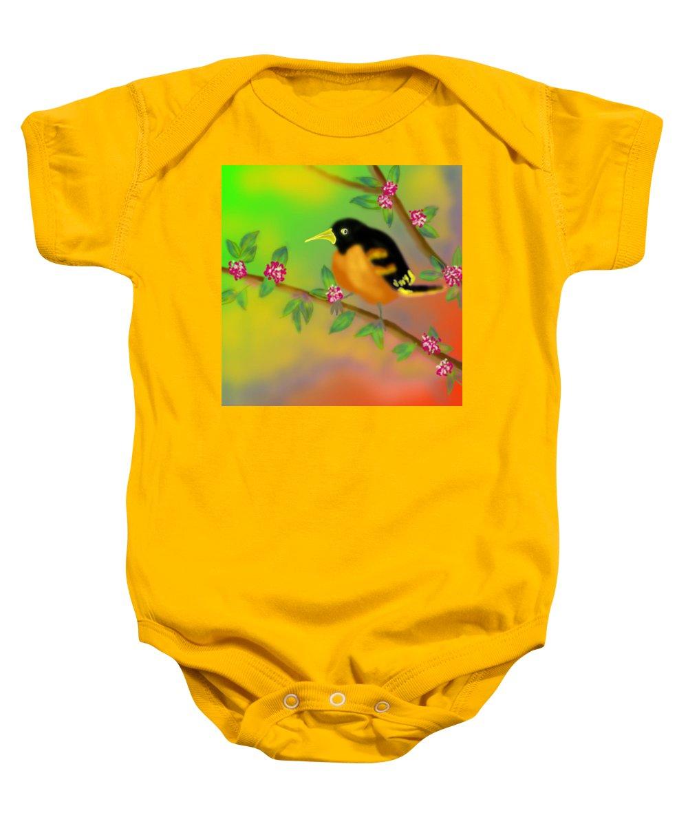 Bird Baby Onesie featuring the digital art Save My Beautiful World by Latha Gokuldas Panicker