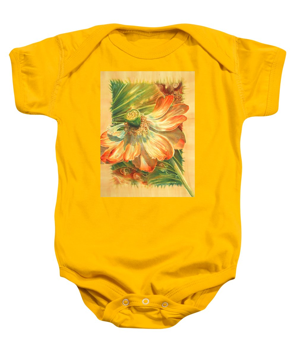 Flower Baby Onesie featuring the painting Season's End by Deborah Younglao