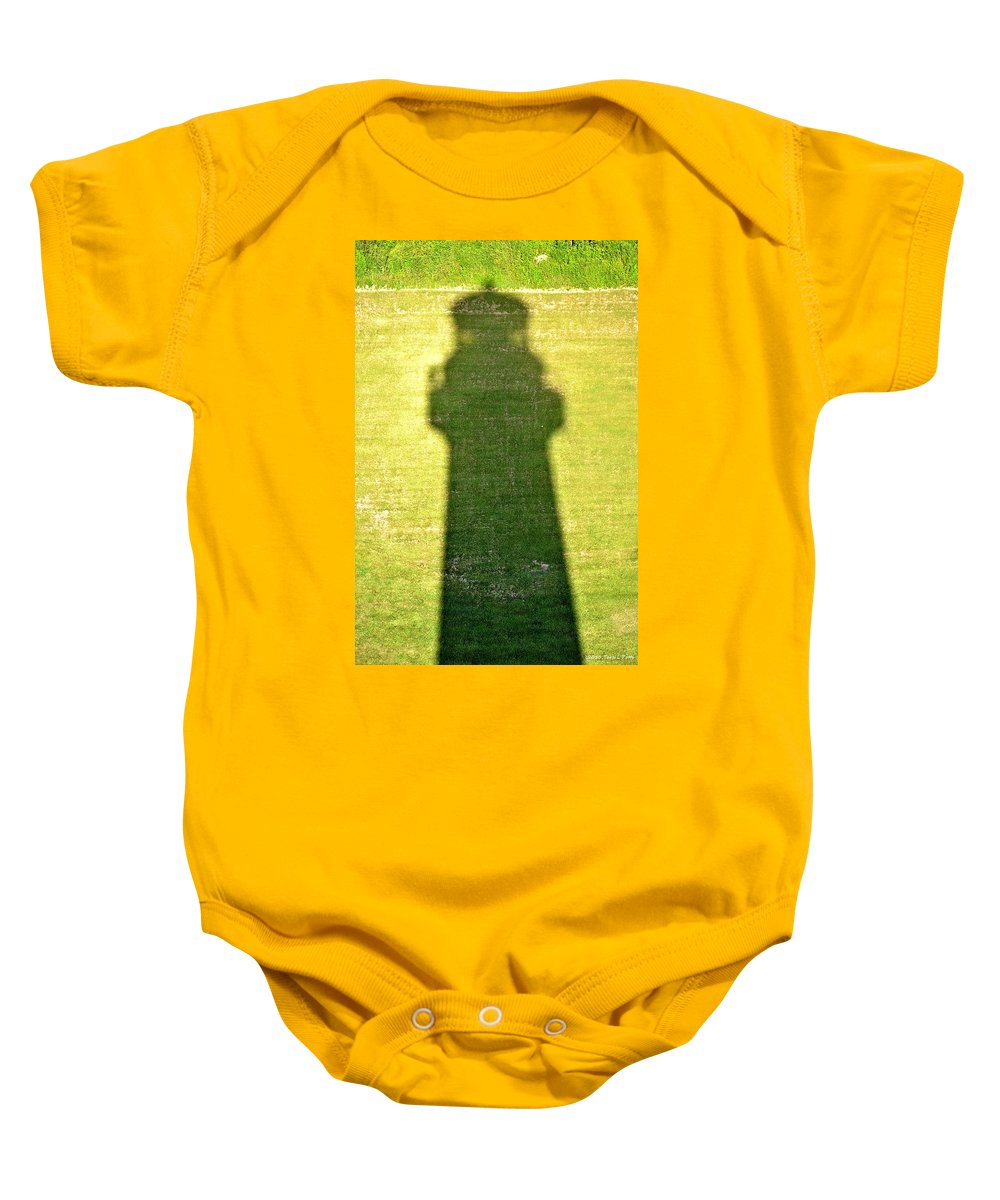 Shadow Baby Onesie featuring the photograph Shadow Of Tybee Lighthouse by Tara Potts