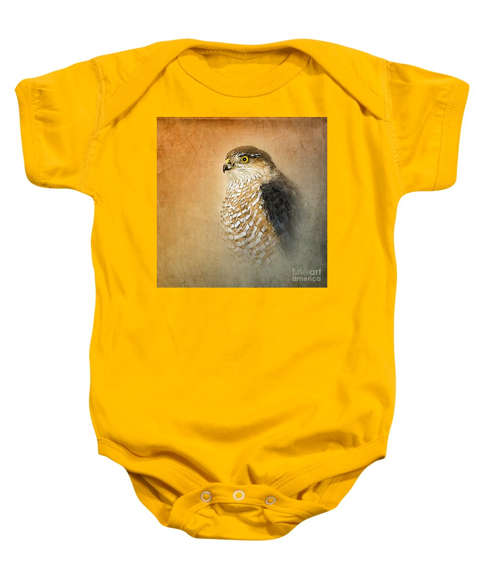 Sharp Shinned Hawks Baby Onesie featuring the photograph Sharpie by Betty LaRue