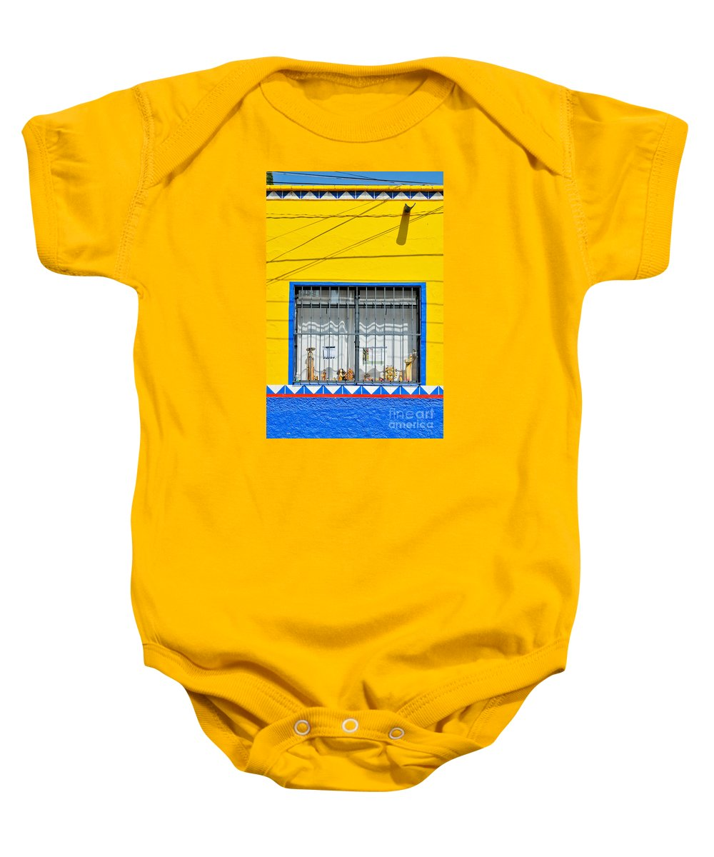 Mexico Baby Onesie featuring the photograph Shop Window - Mexico - Photograph By David Perry Lawrence by David Perry Lawrence