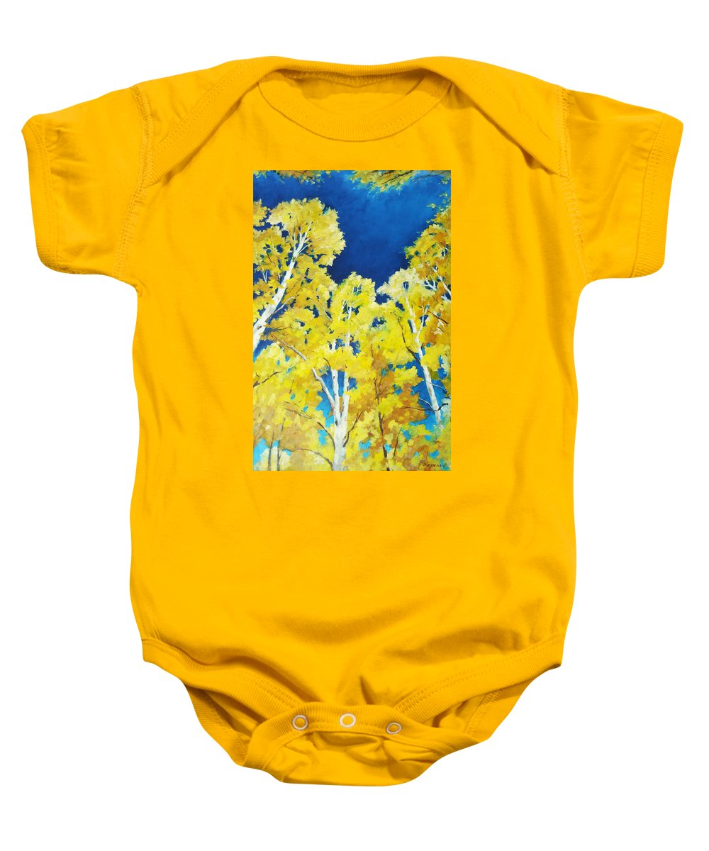 Sky Baby Onesie featuring the painting Skyward by Richard T Pranke