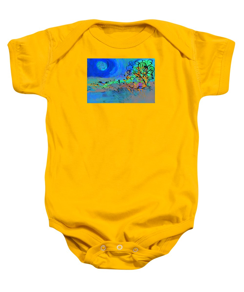 Landscape Baby Onesie featuring the painting Somewhere The Sun by Everett Spruill