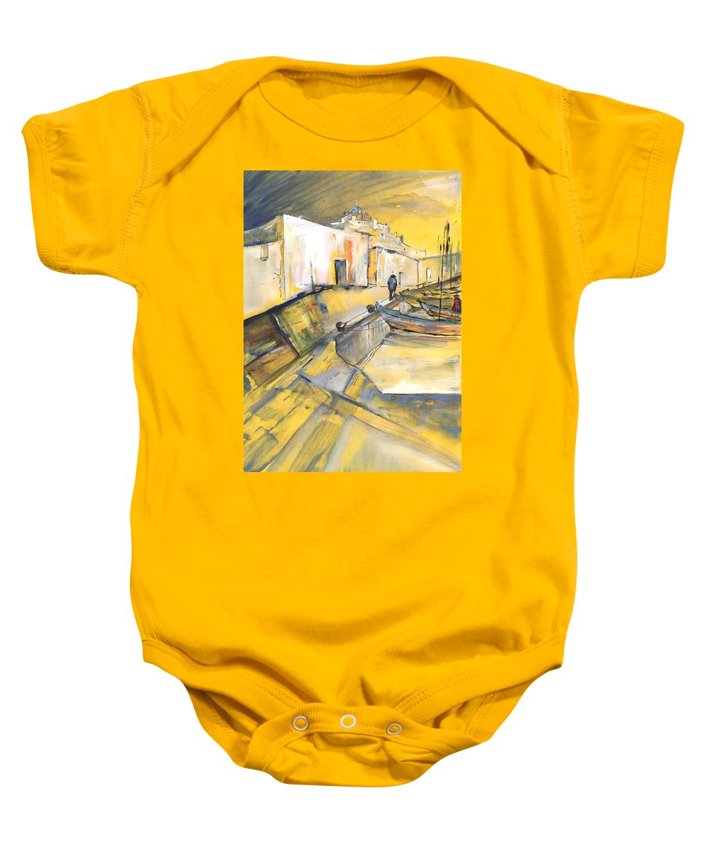 Impressionism Baby Onesie featuring the painting Spanish Harbour 05 by Miki De Goodaboom