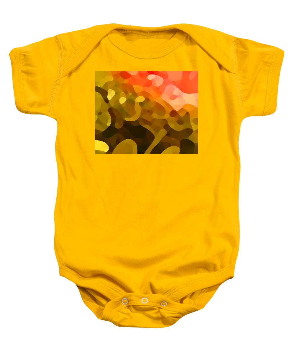 Abstract Baby Onesie featuring the painting Spring Day by Amy Vangsgard