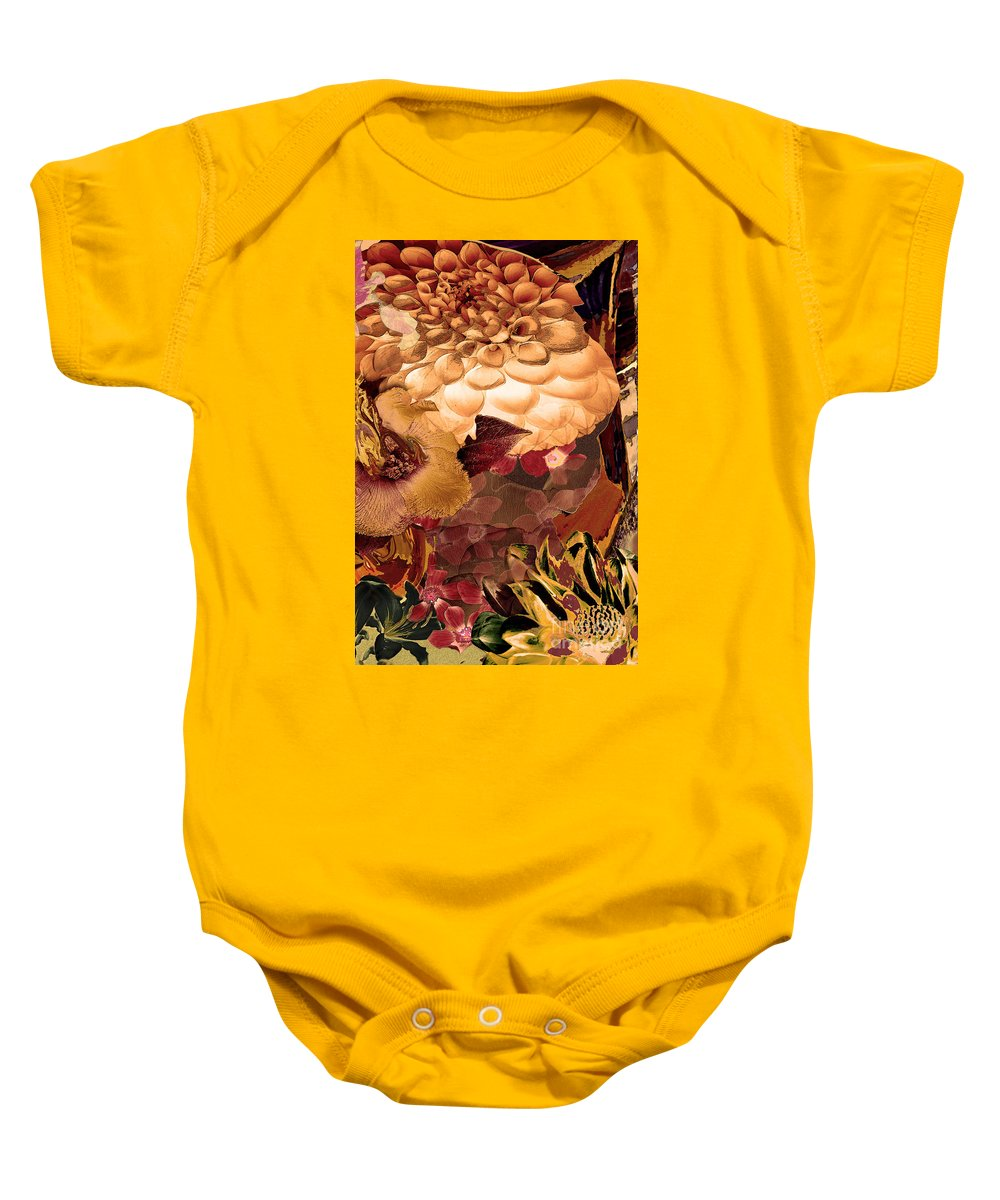 Springtime Baby Onesie featuring the digital art Springtime Melody Three by Paul Gentille