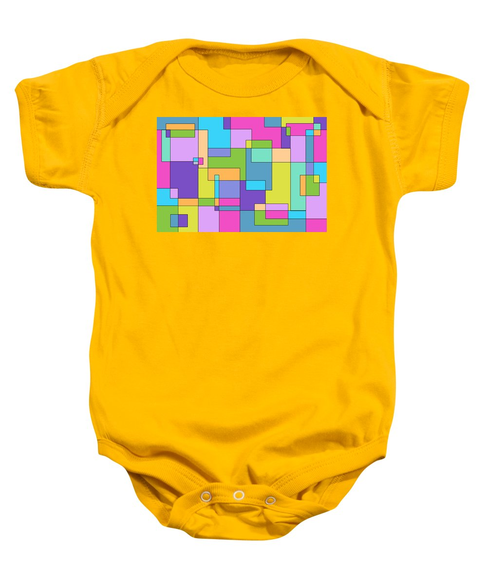 Geometric Baby Onesie featuring the digital art Springtime One by Jeff Gater