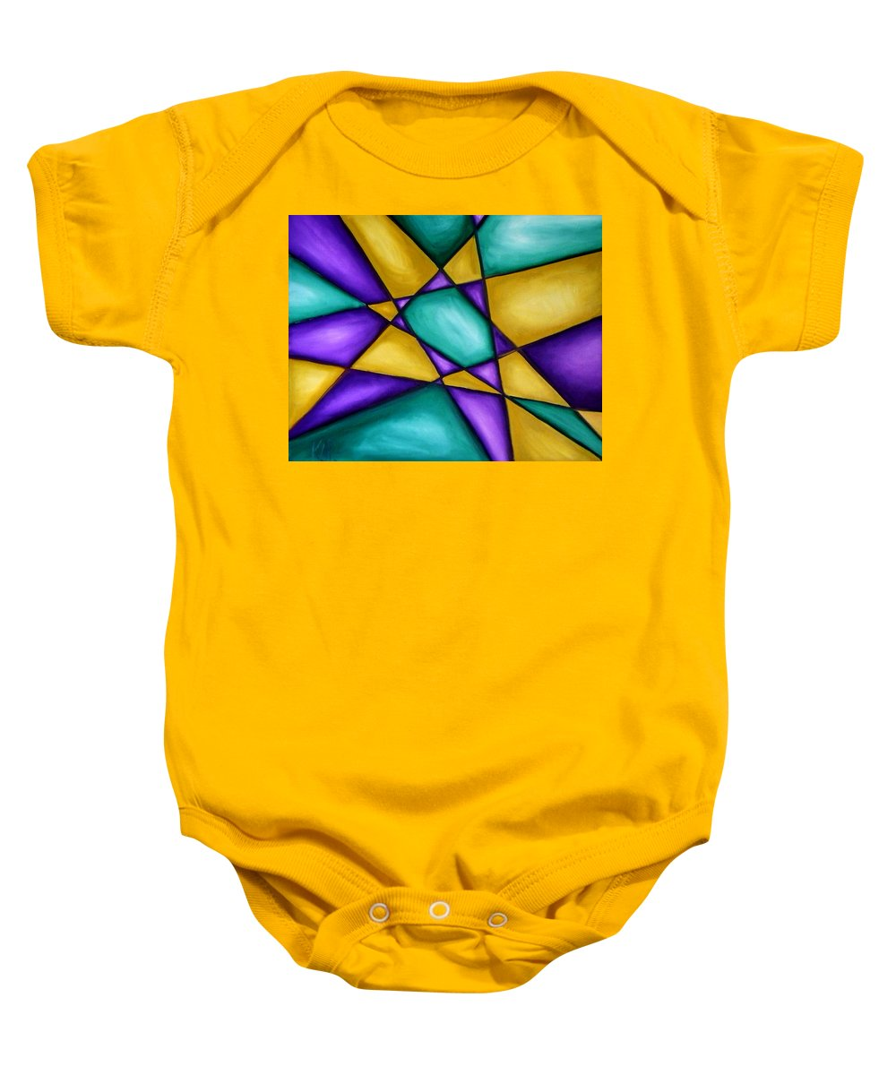 Star Baby Onesie featuring the painting Starstruck by Art by Kar