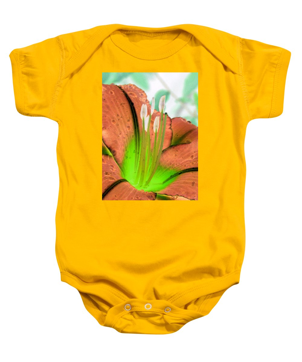 Flower Baby Onesie featuring the photograph Stigma - Photopower 1002 by Pamela Critchlow