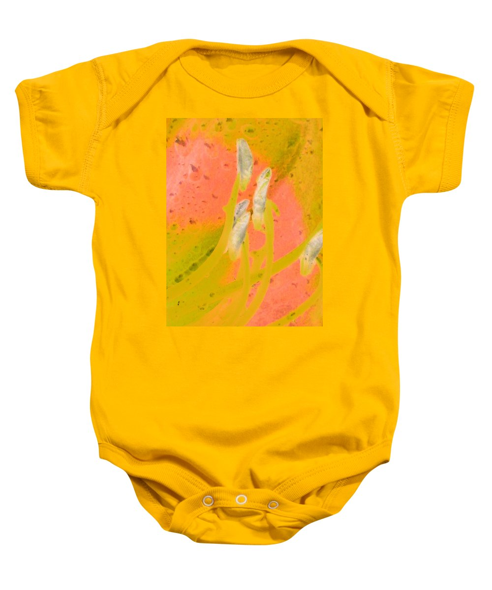 Flower Baby Onesie featuring the photograph Stigma - Photopower 1010 by Pamela Critchlow
