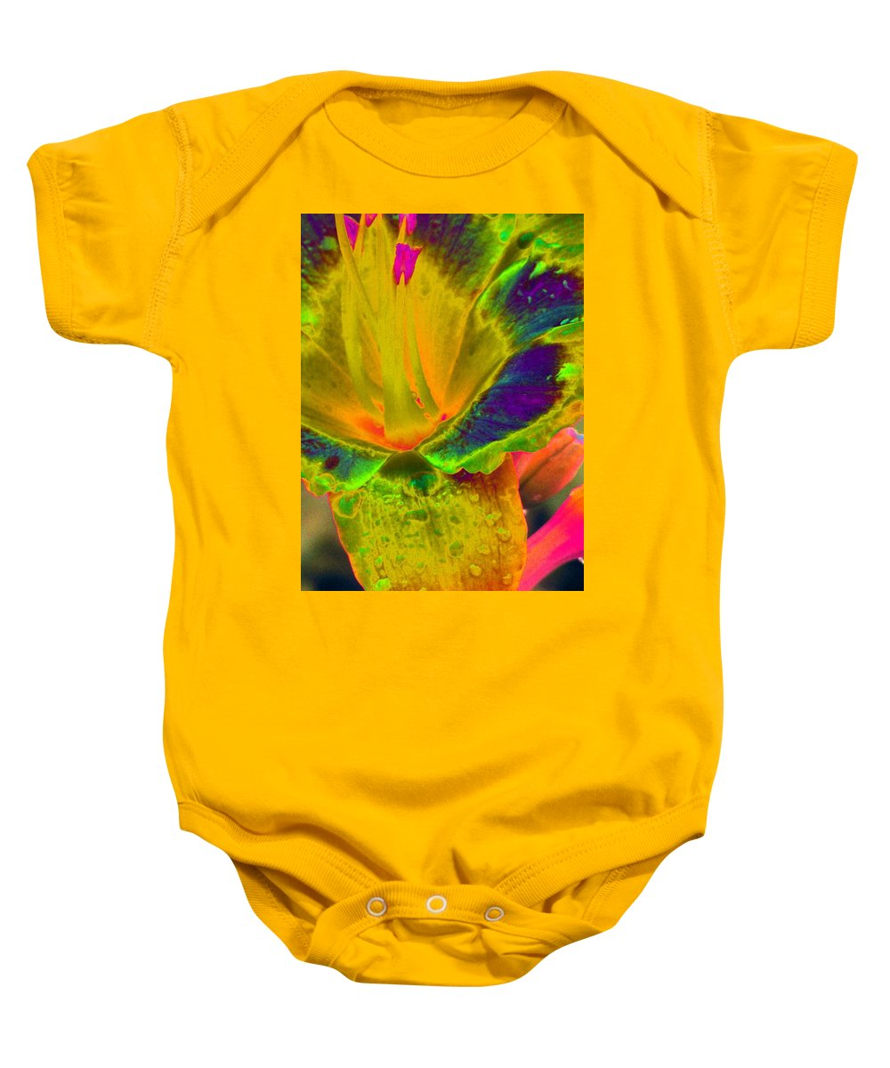Flower Baby Onesie featuring the photograph Stigma - Photopower 1156 by Pamela Critchlow