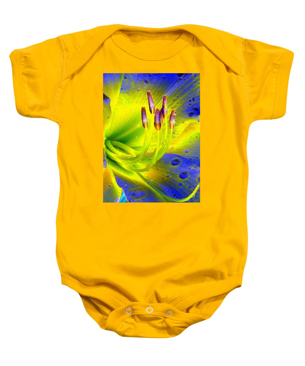 Flower Baby Onesie featuring the photograph Stigma - Photopower 1157 by Pamela Critchlow