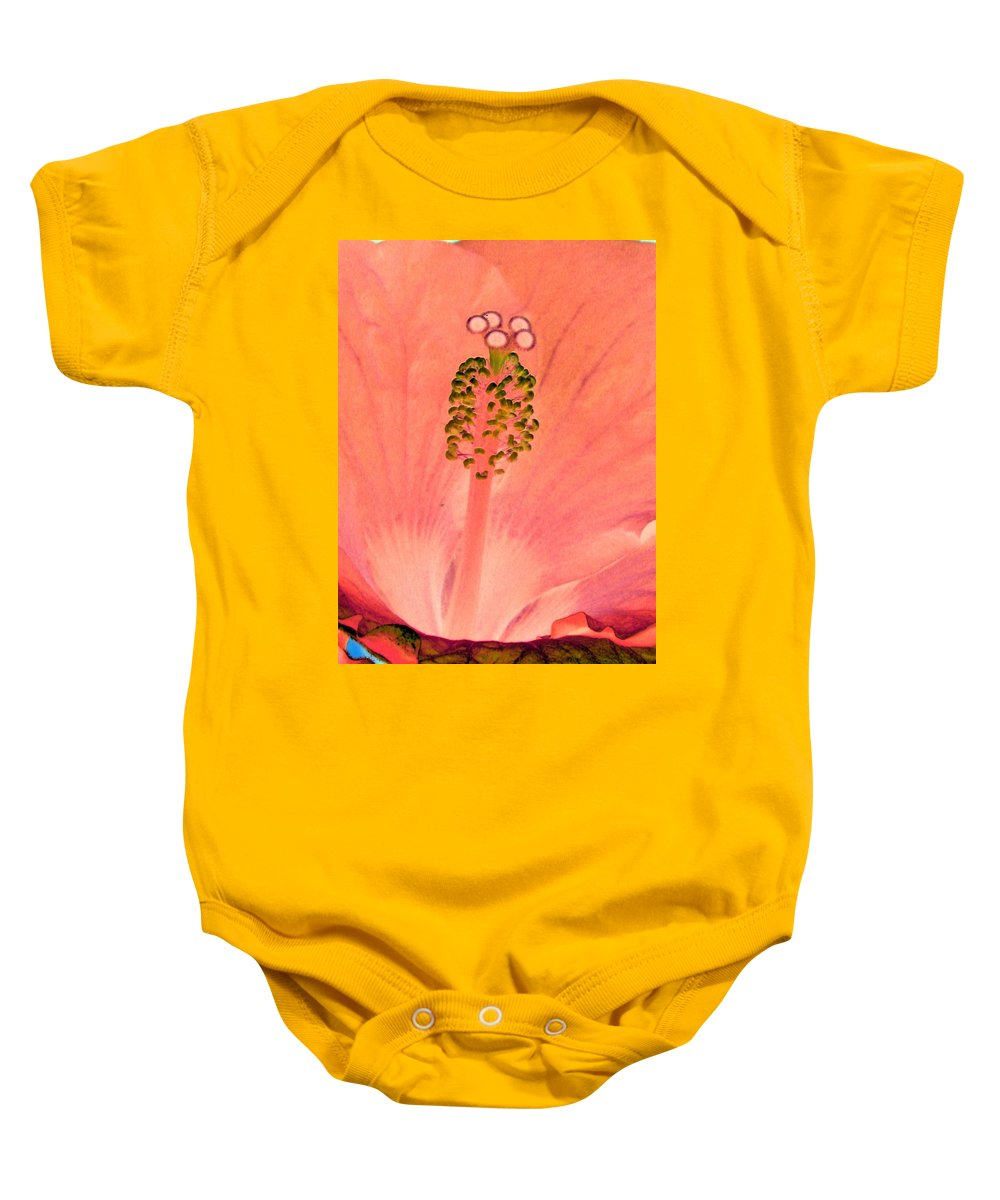 Flower Baby Onesie featuring the photograph Stigma - Photopower 1208 by Pamela Critchlow
