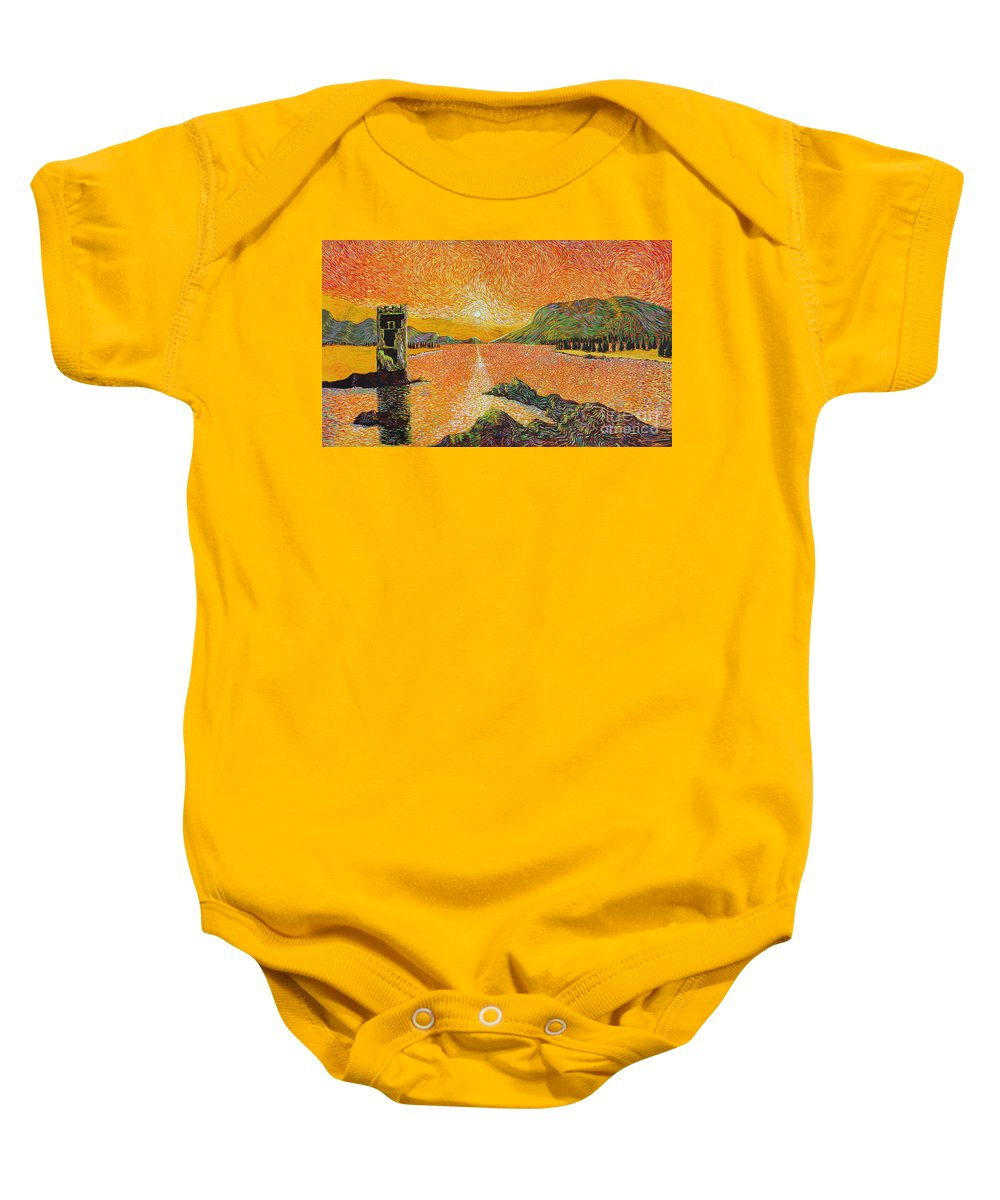 Landscape Baby Onesie featuring the painting Still Standing by Stefan Duncan