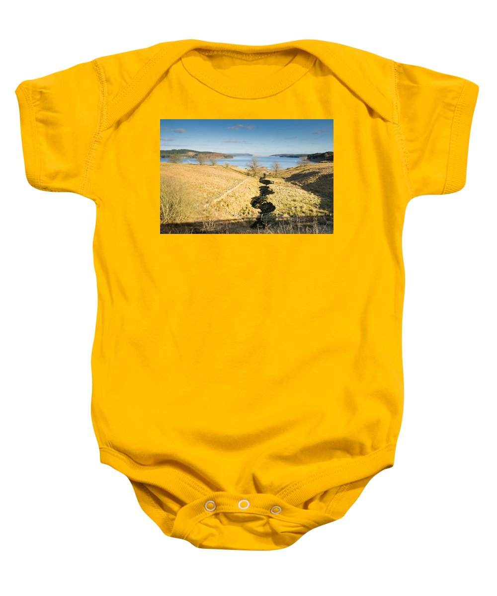 Northumberland Baby Onesie featuring the photograph Stream To Kielder Water by David Head