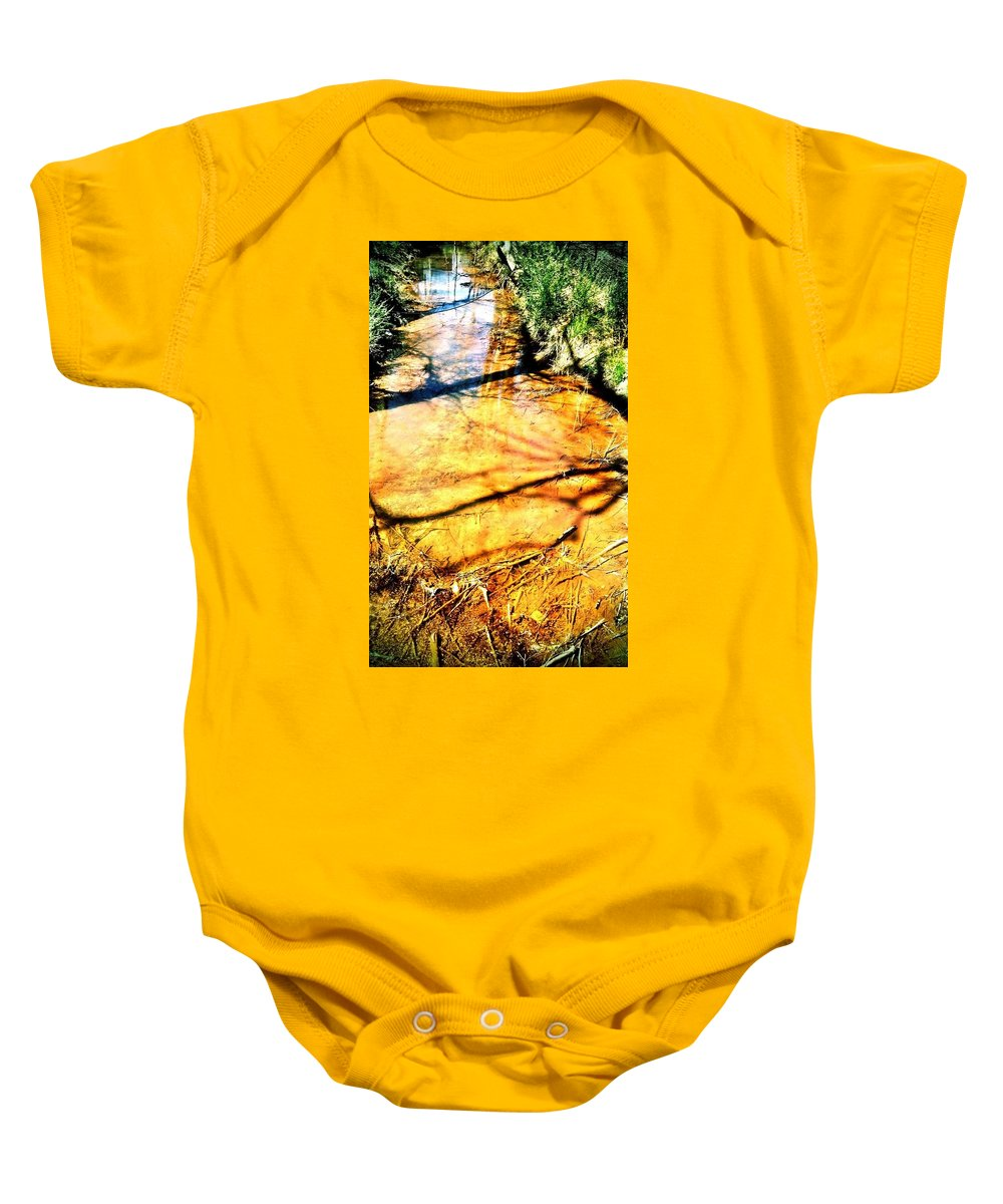 Stream Baby Onesie featuring the photograph Streams End by Michele Monk