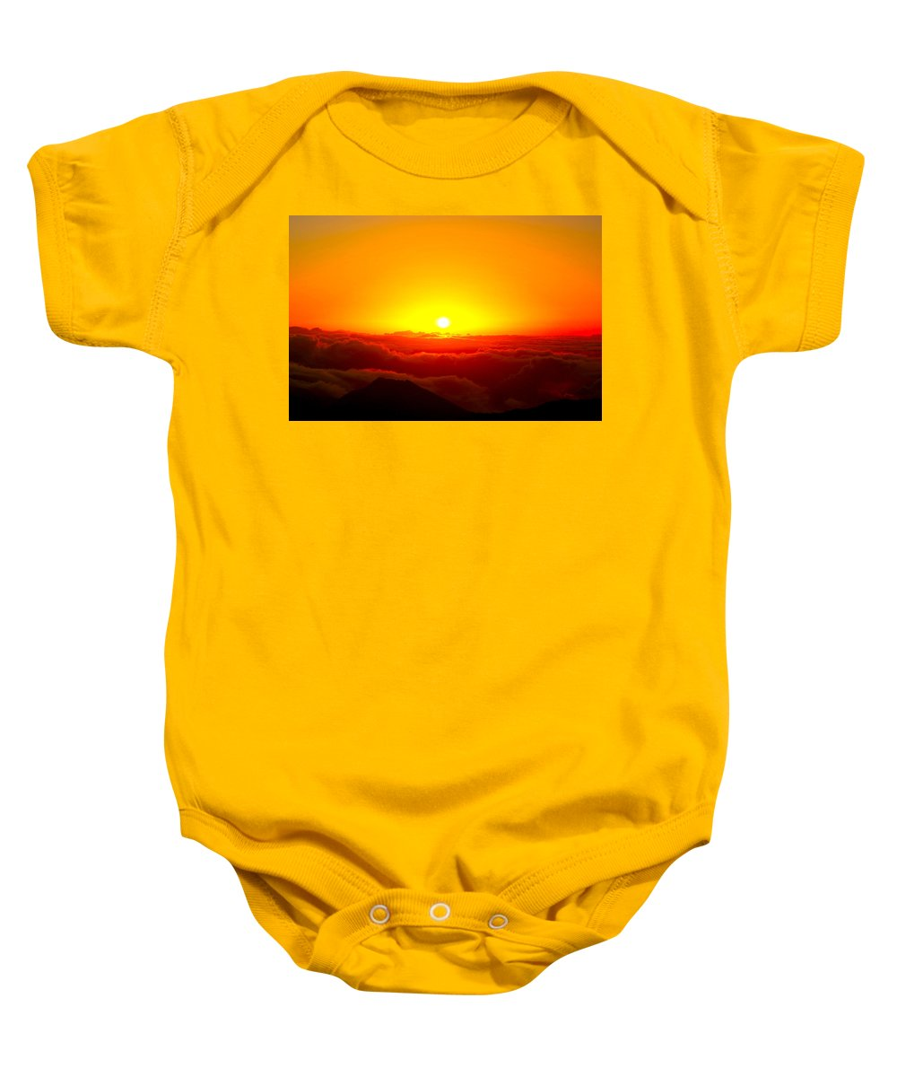 Clouds Baby Onesie featuring the photograph Sun Goddess by Stephen Edwards