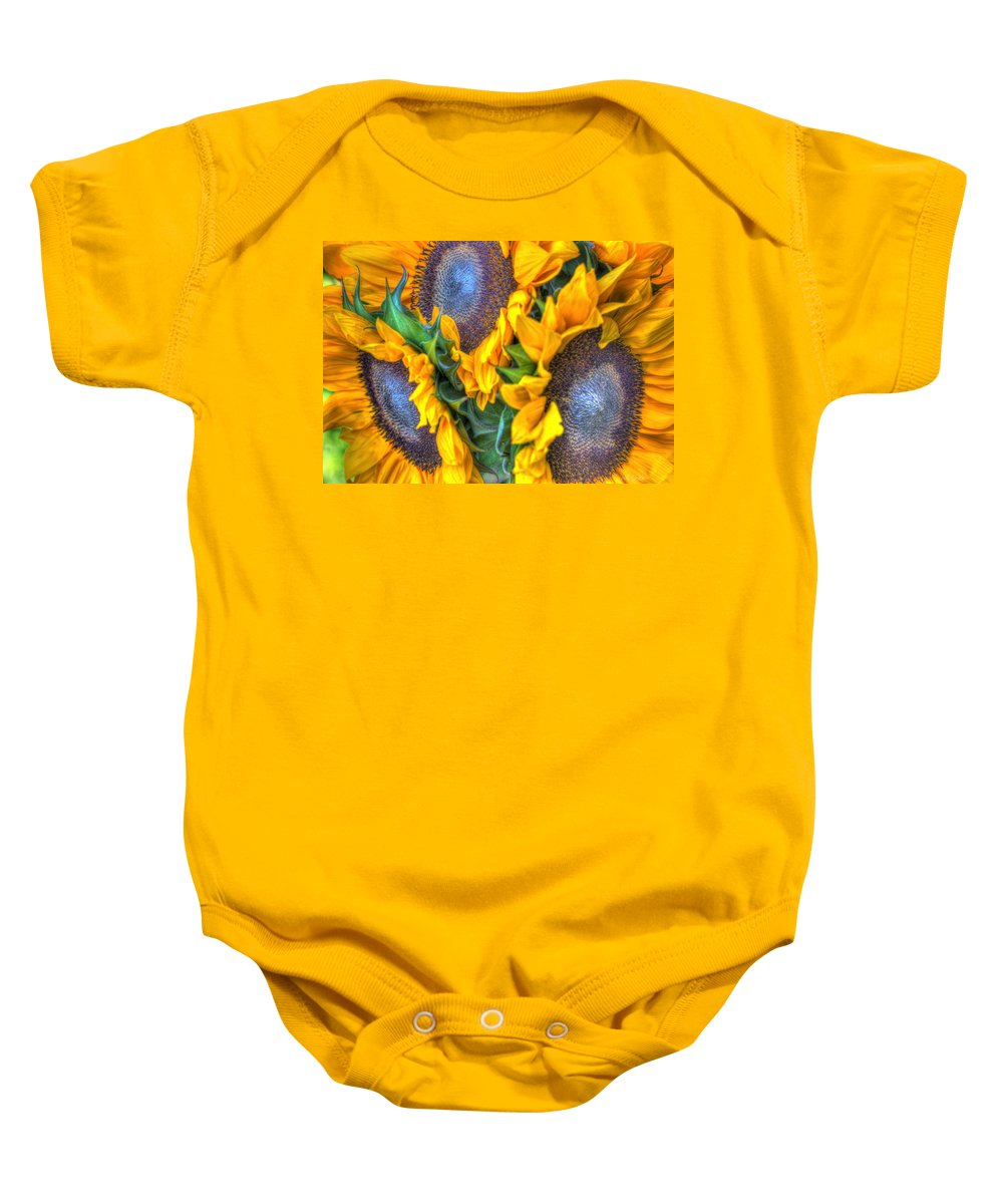 Baby Onesie featuring the photograph Sunflower Delight by Heidi Smith