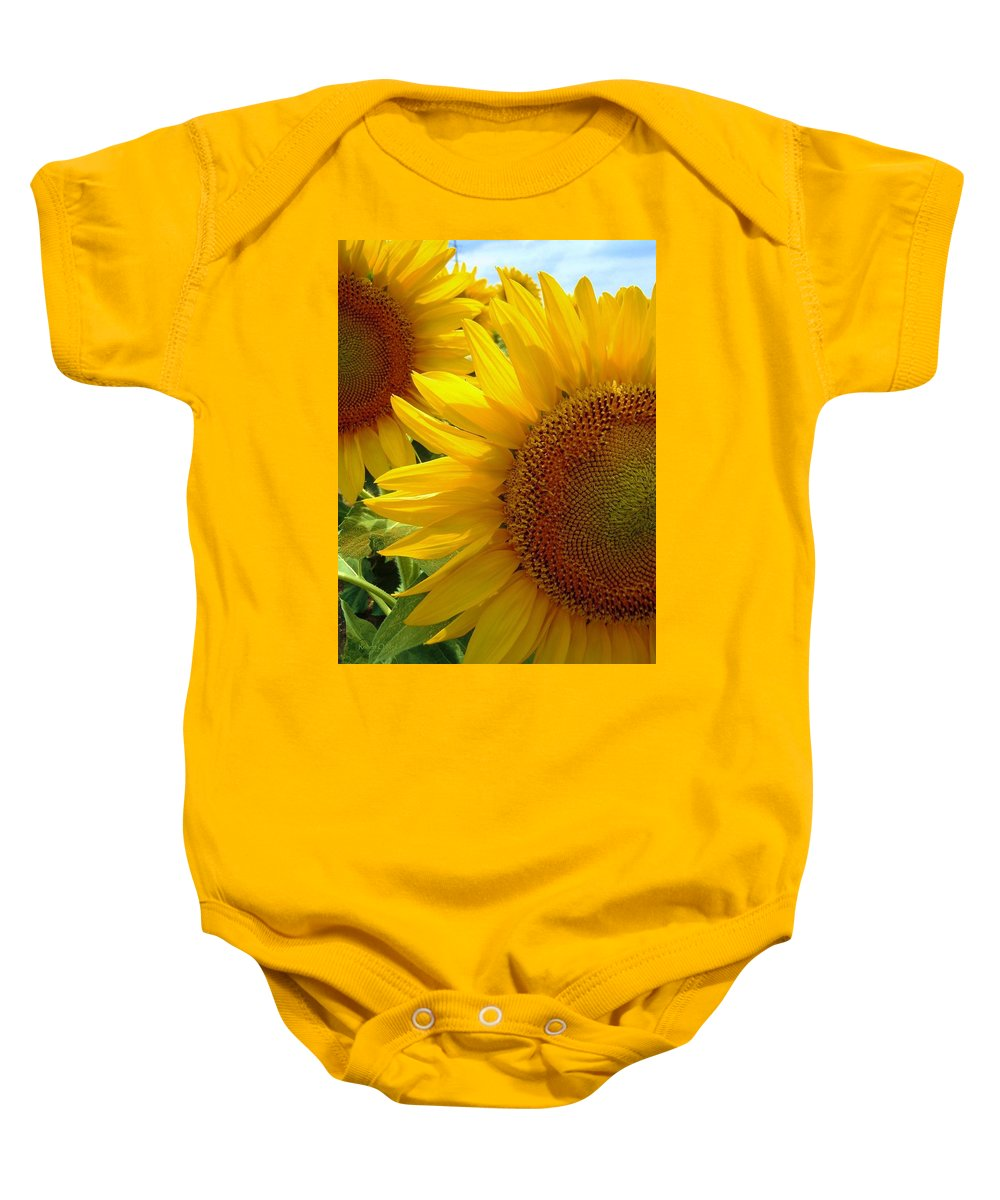 Sunflowers Baby Onesie featuring the photograph Sunflowers #1 by Robert ONeil