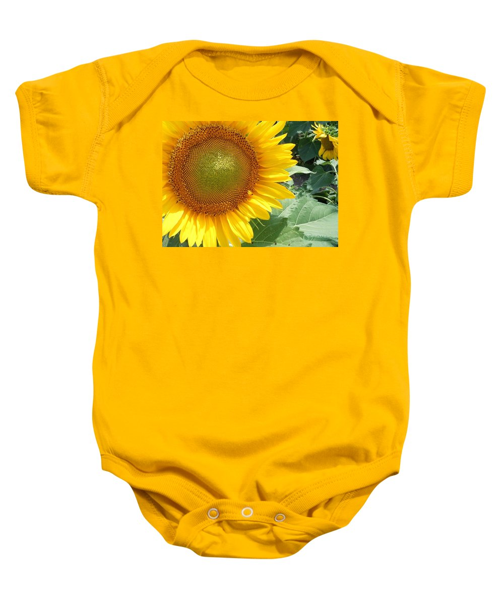Sunflowers Baby Onesie featuring the photograph Sunflowers #2 by Robert ONeil