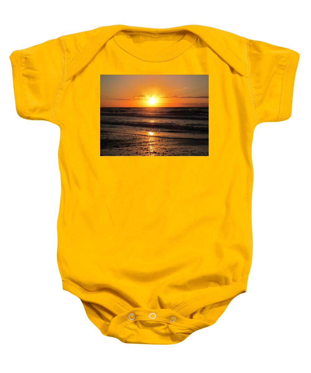 Sunrise Baby Onesie featuring the photograph Sunrise In Texas 4 by Richard Booth