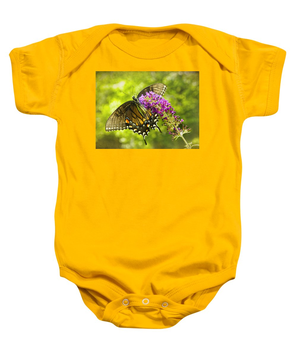 Swallowtail Butterfly Baby Onesie featuring the photograph Swallowtail Butterfly by Sandi OReilly