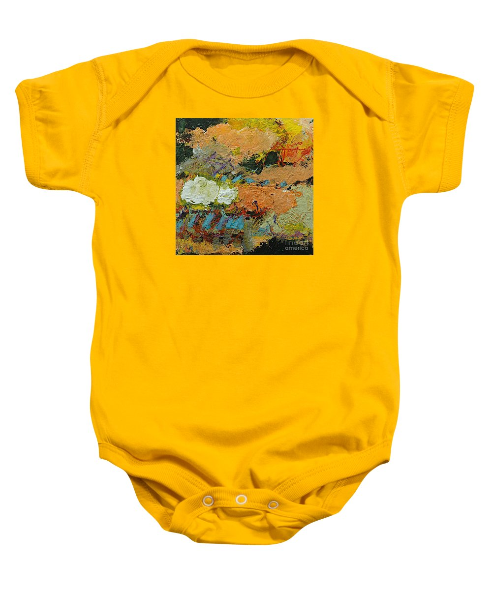 Landscape Baby Onesie featuring the painting Sweet And Spicy by Allan P Friedlander