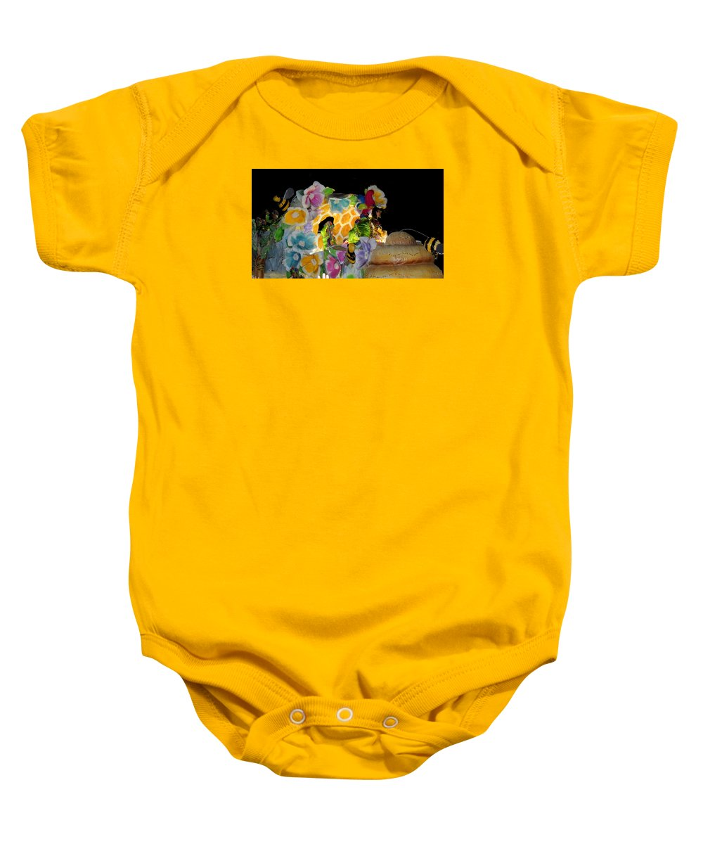 Photographic Print Baby Onesie featuring the photograph Sweet As Honey - Honey Bees by Marian Bell