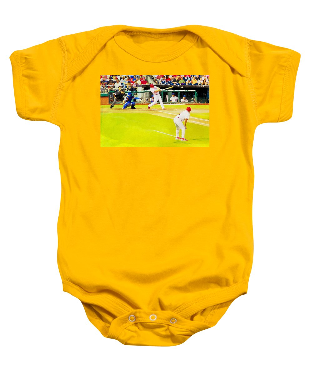 Phillies Baby Onesie featuring the photograph The Field by Alice Gipson