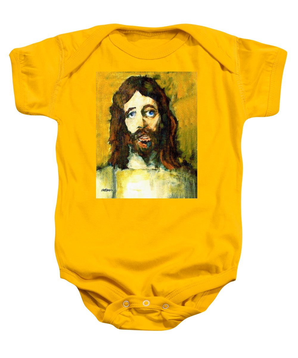 Jesus Christ Baby Onesie featuring the painting The Galilean by Seth Weaver